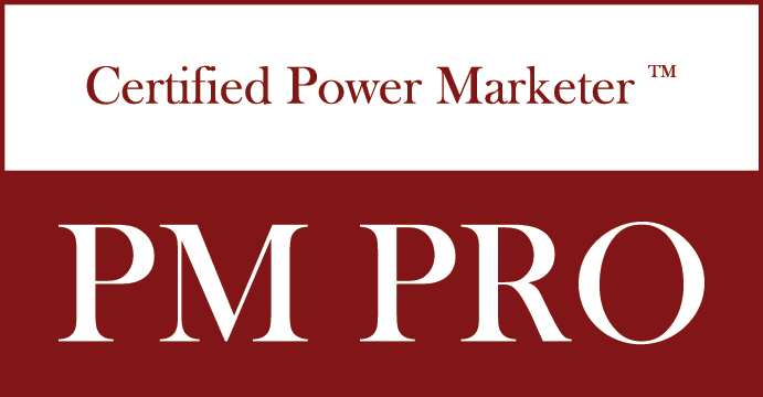 certified power marketer logo red